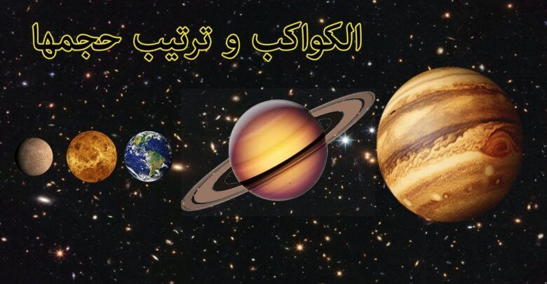 ترتيب الكواكب الشمسية حسب حجمها وب عدها عن الشمس Planets Body Celestial
