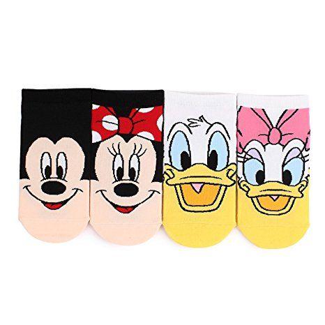 Choice Set Disney Pixar Marvel Socks Mickey Minnie Mouse (Twin sneakers 4pairs)