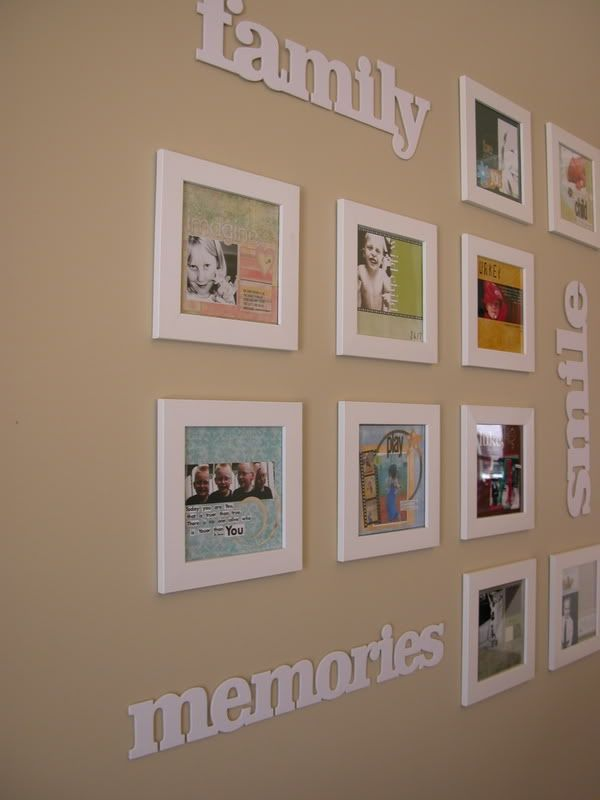 Scrapbook wall art chipboard scrapbook and frame display for 5x5 frames ikea