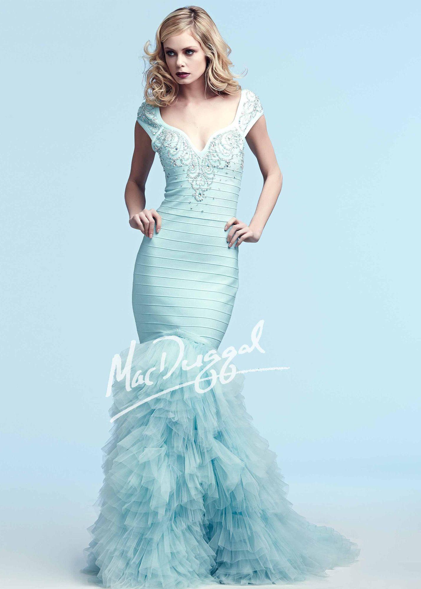 Mac Duggal 40360 Ruffled Bandage Mermaid Dress | Prom | Pinterest ...