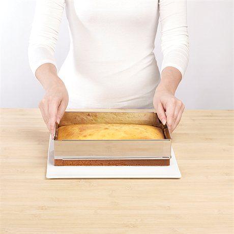Rectangle à gâteau extensible en inox 25 à 46 cm Mathon