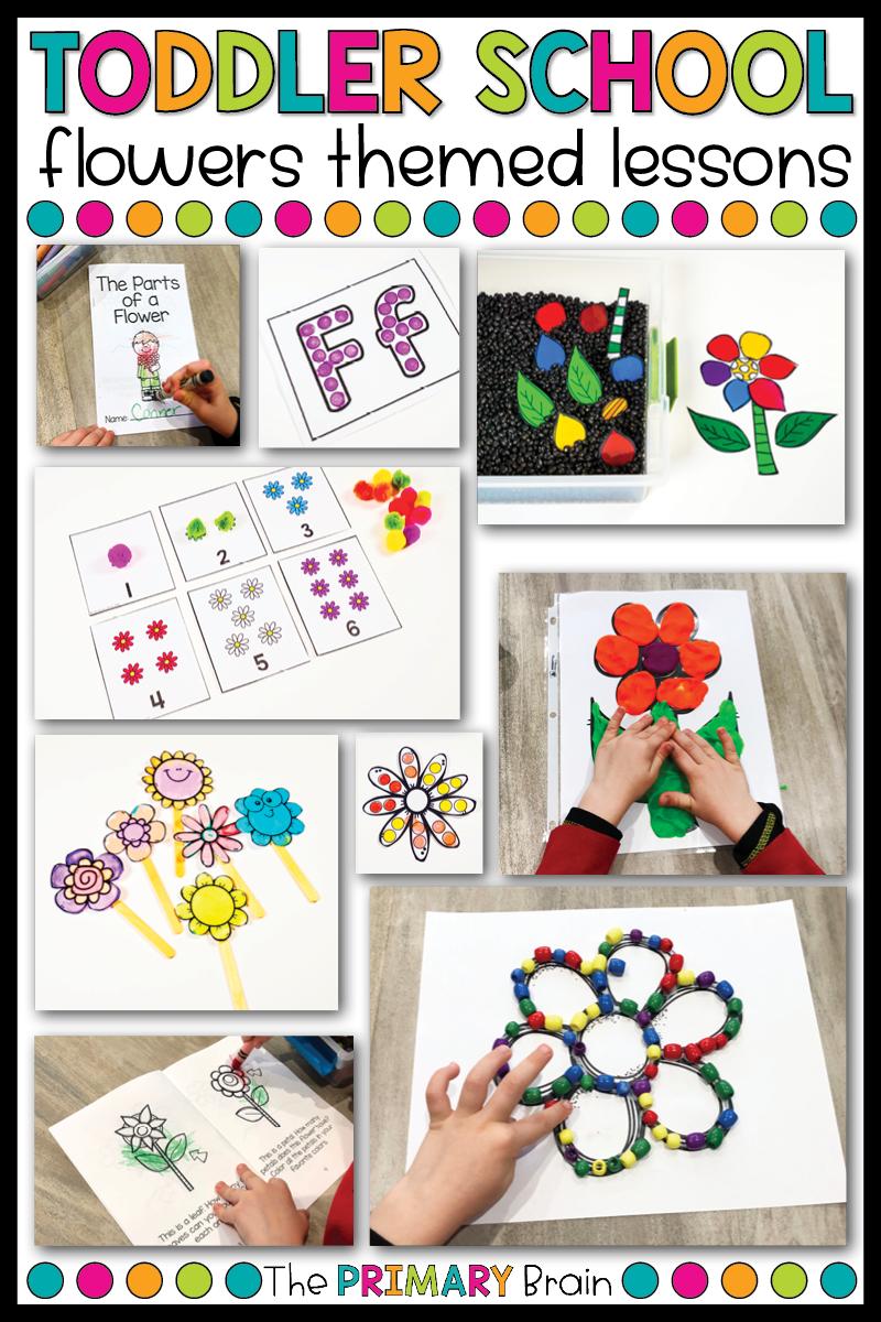 Toddler Lesson Plans Flower Themed Lessons Lesson Plans For Toddlers Toddler Lessons Preschool Activities Toddler