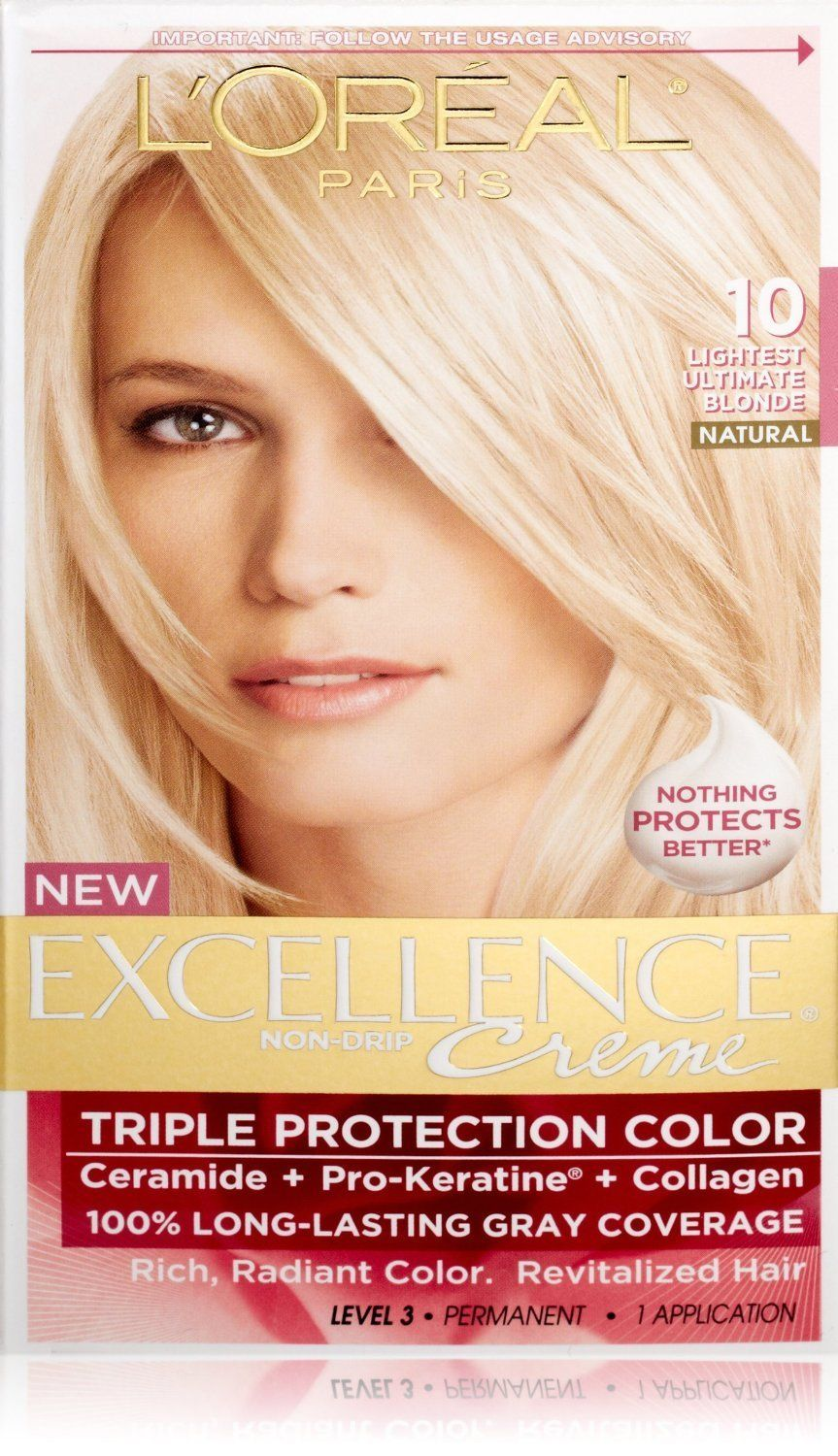 L Oreal Excellence Creme Haircolor Lightest Ultimate Blonde 10 1 Ea This Is An Amazon Affiliate Link Deta Grey Hair Coverage Loreal Hair Color Hair Color