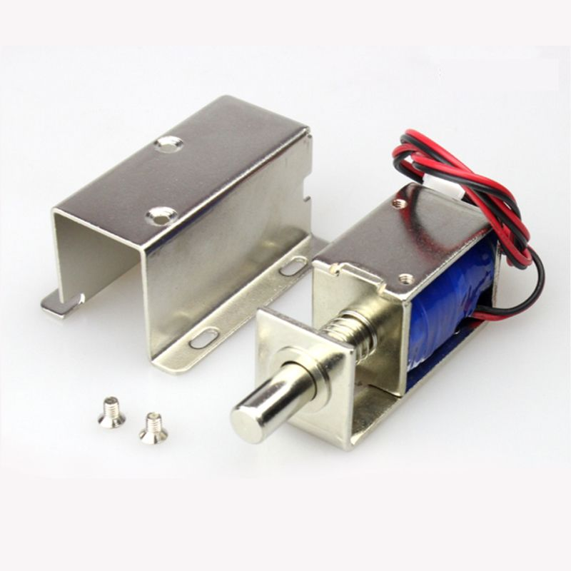 3pcs 12v 24v Electronics Lock Assembly Solenoid Low Power Consumption Bolt Lock Door Lock Security Electronic Lock
