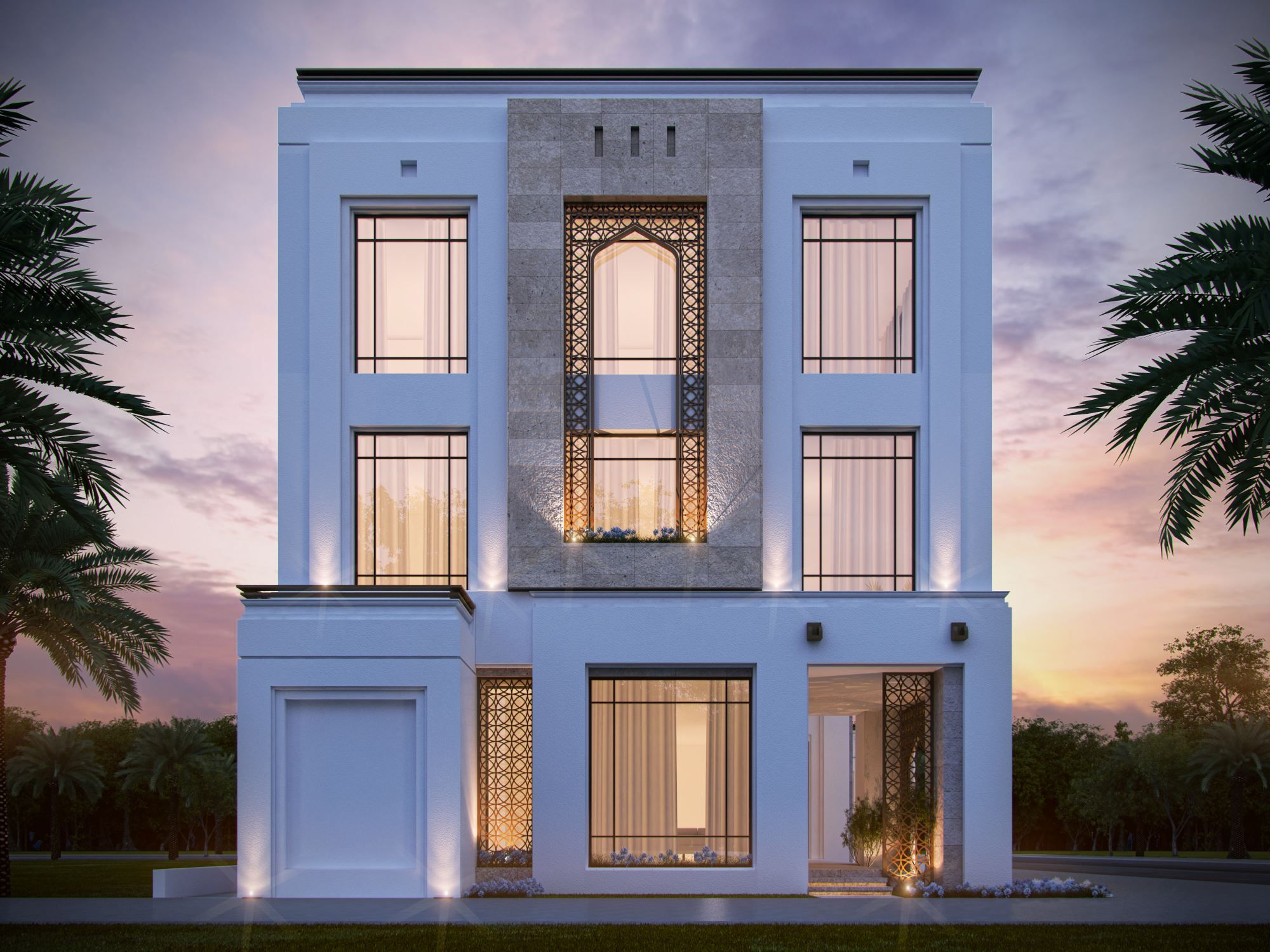 Private villa 400 m kuwait sarah sadeq architects sarah for Modern house villa