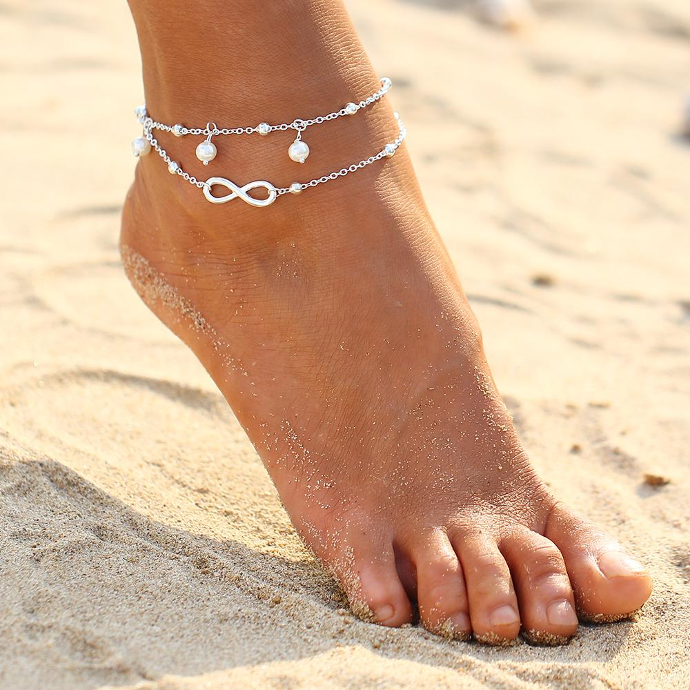 dance exaggerated vintage anklets jewelry yoga rhinestone statement anklet women big foot ankles pin shiny for ankle crystal gem