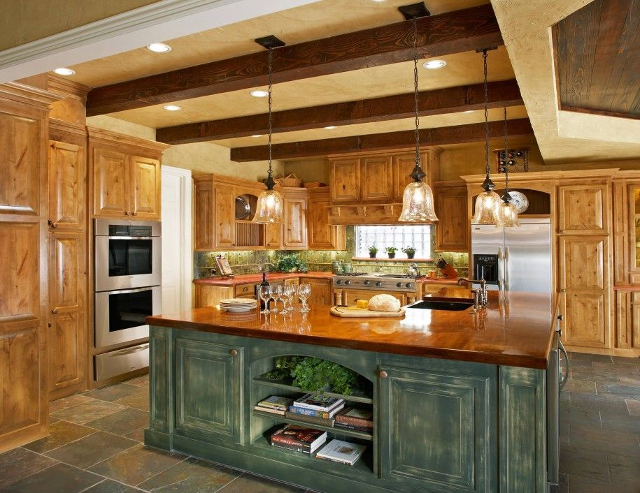 Rustic kitchen island lighting your kitchen design for Rustic kitchen island ideas