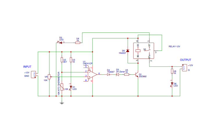 How To Make Temperature Controlled 12v Dc Fan Circuit At Home Www Yarbnas Com Circuit Circuit Diagram Temperature Control