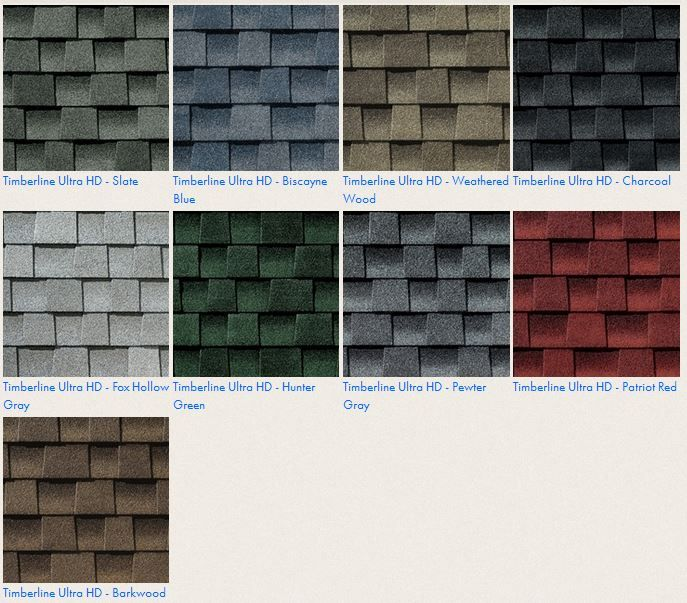 Best Gaf Timberline Ultra Hd Roof Shingle Colors Roofing For 640 x 480
