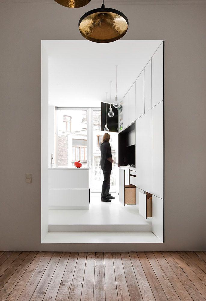 Flodeau com m architecture creuse house 18 home studio salon cocina interiores e - Decorazione archi in casa ...