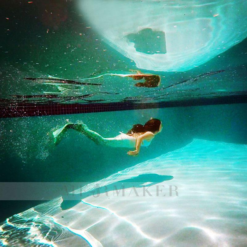 db783fd74 Colas de sirena Traje De Baño traje de Baño Para Las Niñas Cola de Sirena  Nadar