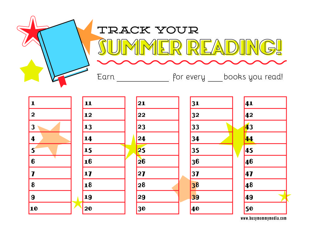#FREE Printable Summer Reading Chart