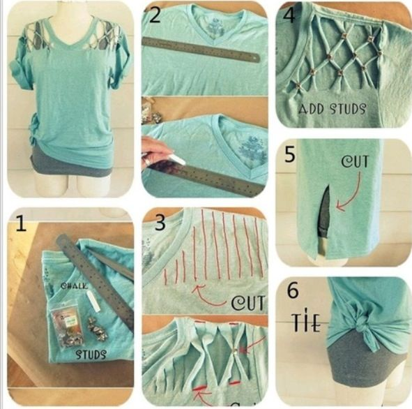 Diy Step By Step Shirt Diy Clothes Diy Shirt Diy Summer