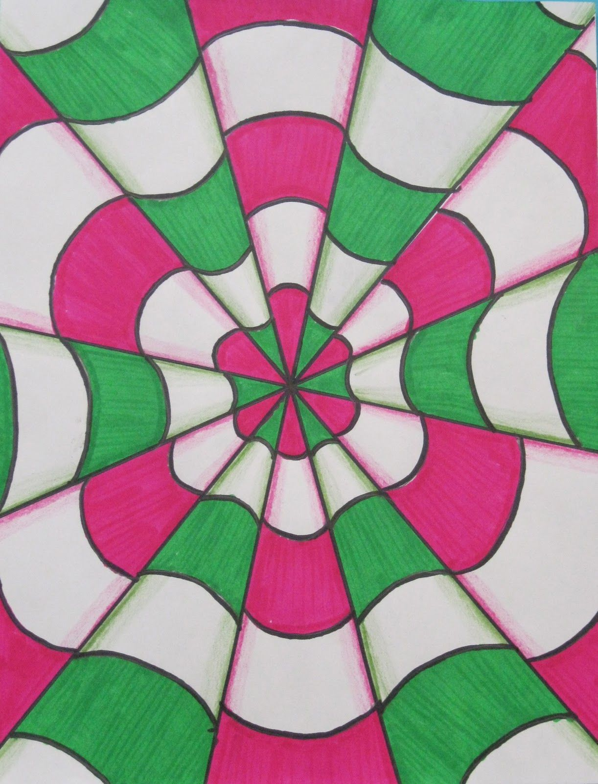 Op art uses color to create - Optical Illusion Art Rundes Room Optical Illusions In Art Class