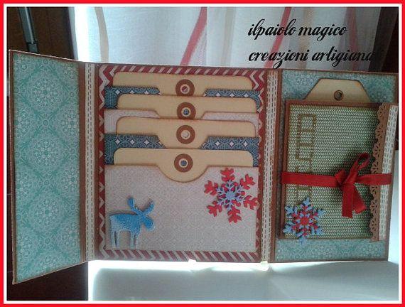 mini album in scrapbooking tema Natale by Topaziohandmade on Etsy