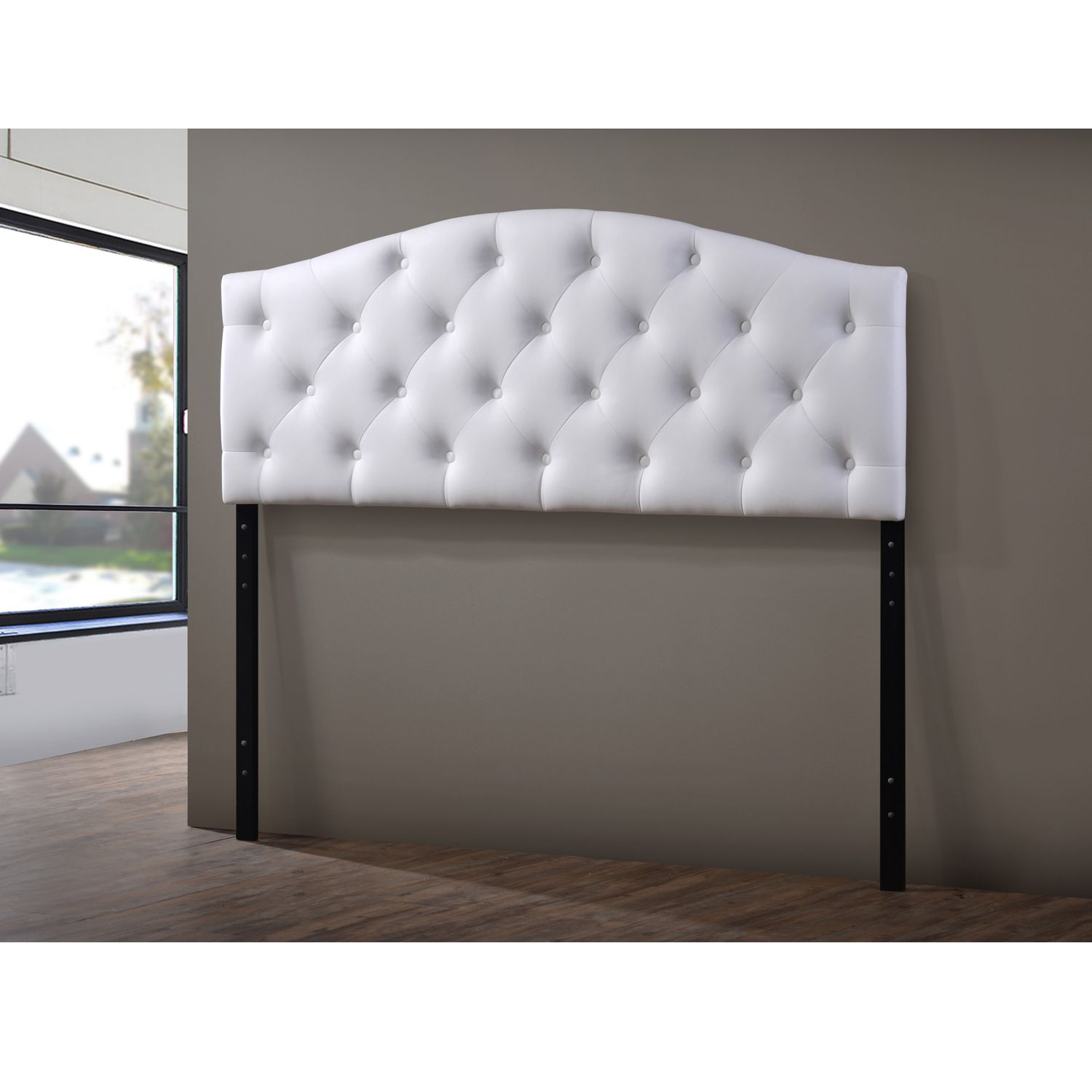 The durable headboard is made of rubberwood and is filled for Fake headboard
