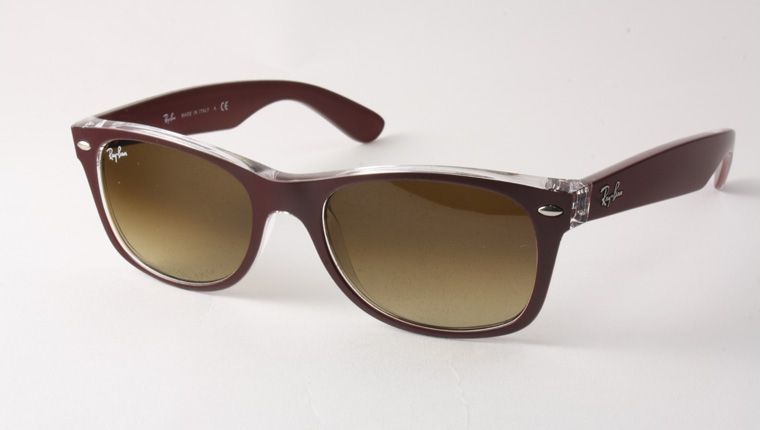 Ray-Ban RB 2132 6054/85 New Wayfarer Sunglasses - Red and Clear