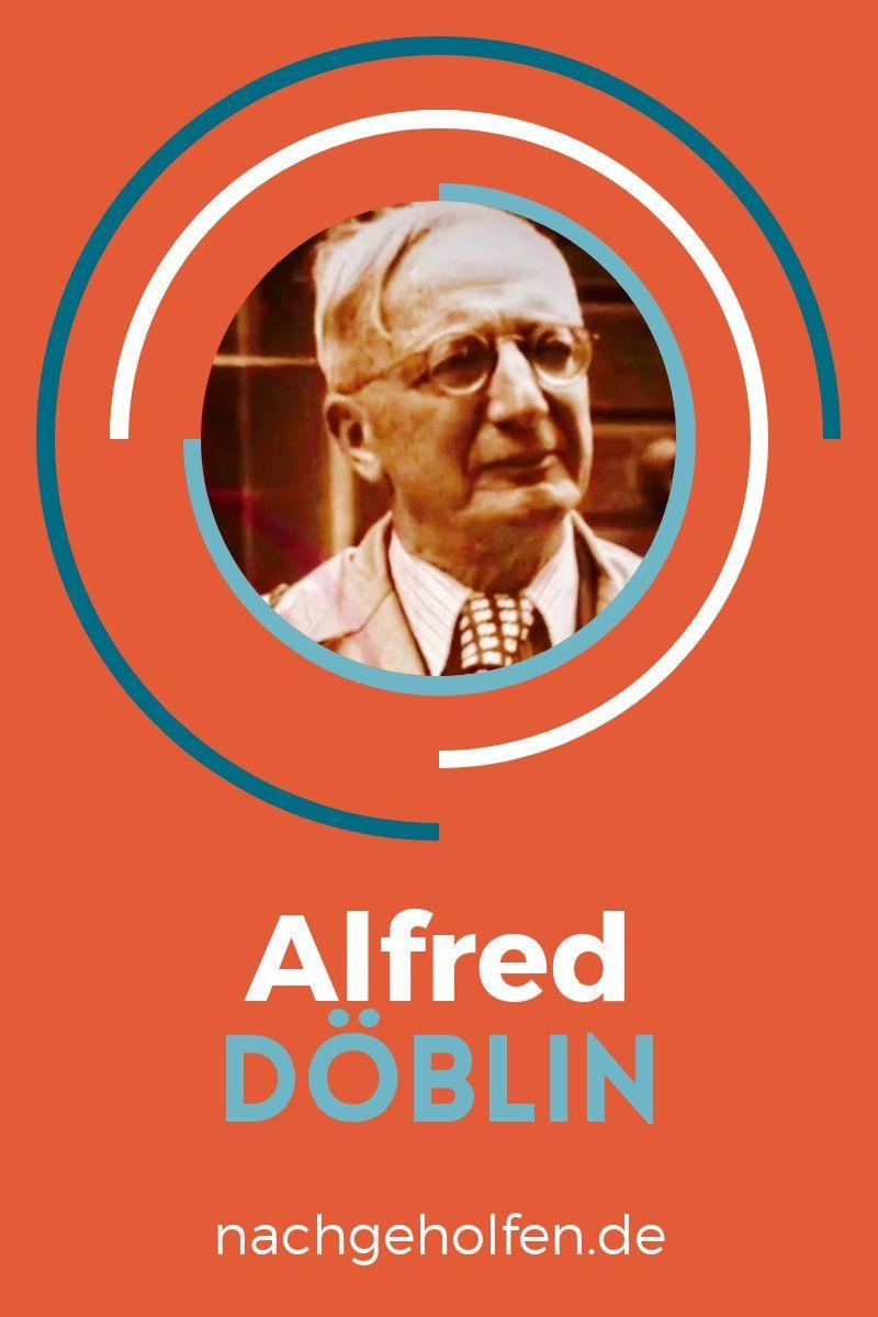 Die Wichtigsten Infos Zum Autor Alfred Doblin Nachgeholfen De Deutsch Unterricht Literatur Bucher