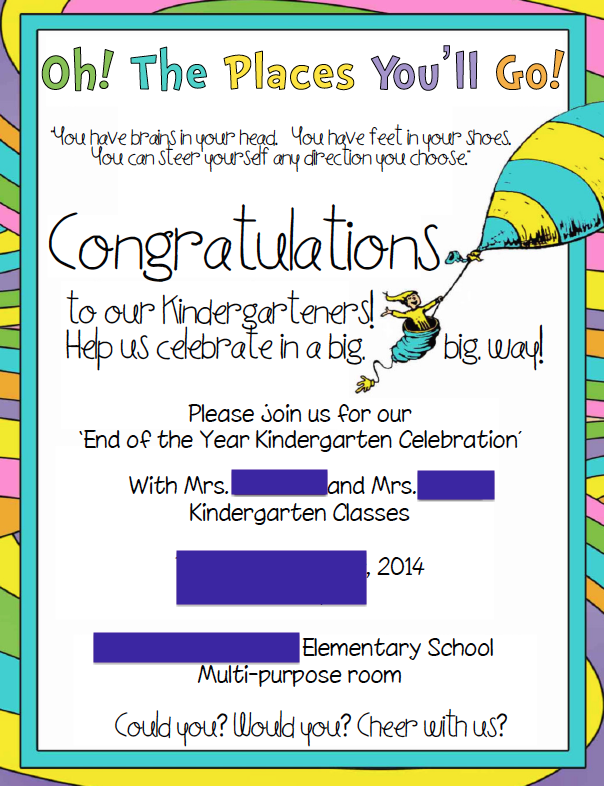kindergarten graduation invitation school pinterest