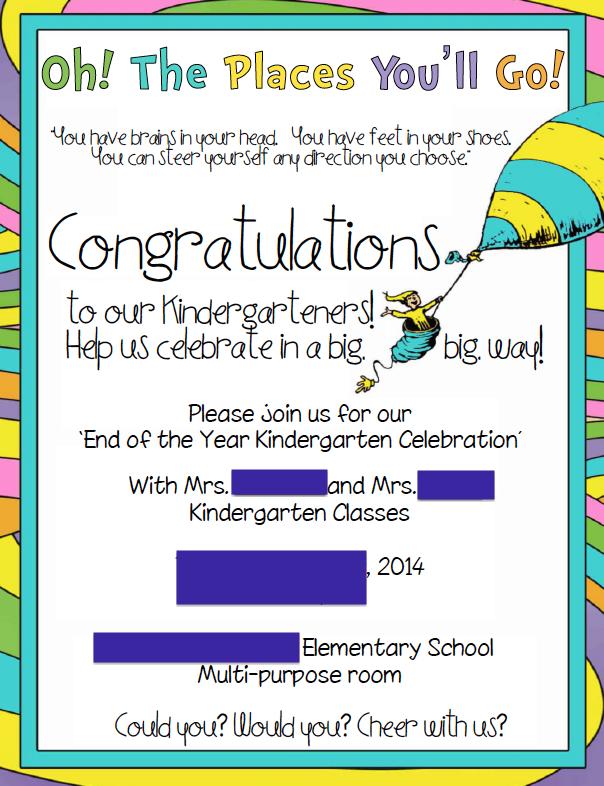 Kindergarten Graduation Invitation School Kindergarten