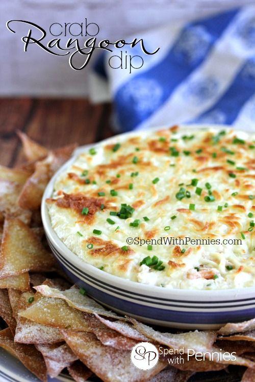 Crab Rangoon Dip with Wonton Chips! Recipe on Yummly. @yummly #recipe #crabrangoondip