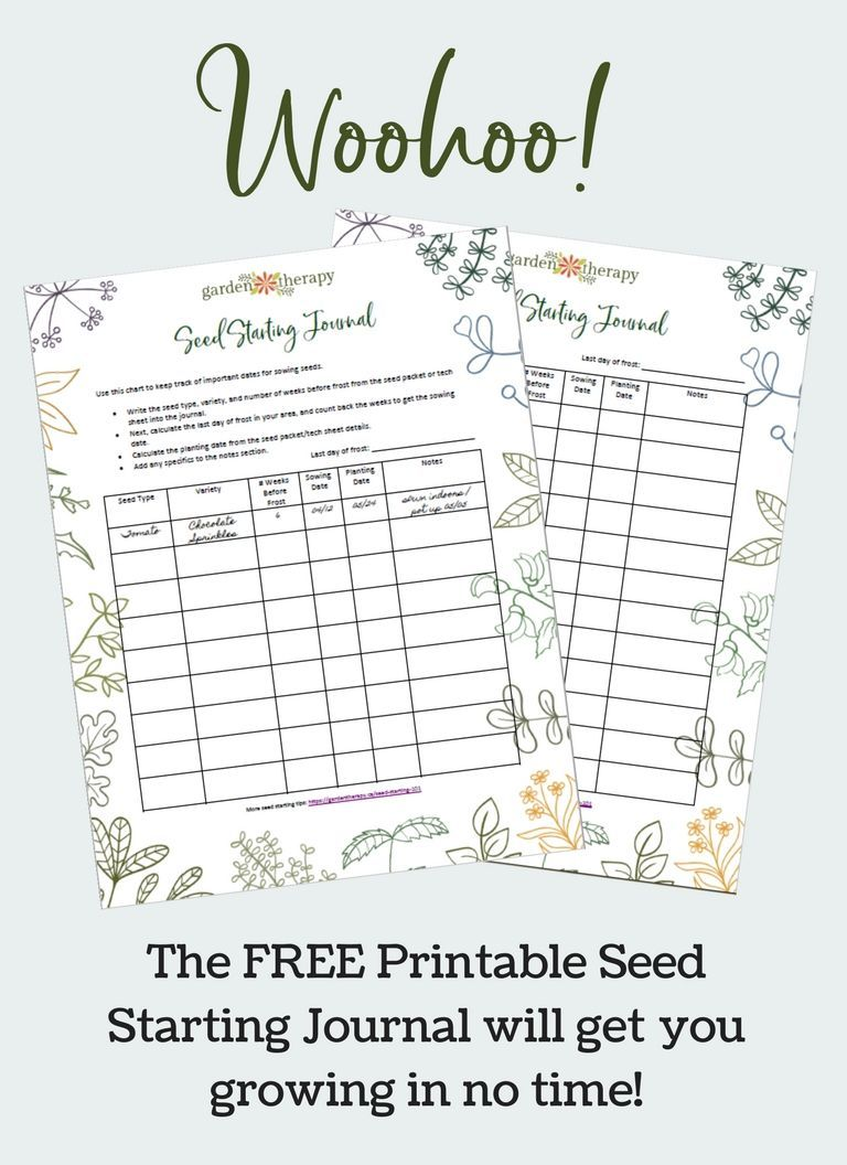 Time To Get Growing With These Free Printable Seed Starting