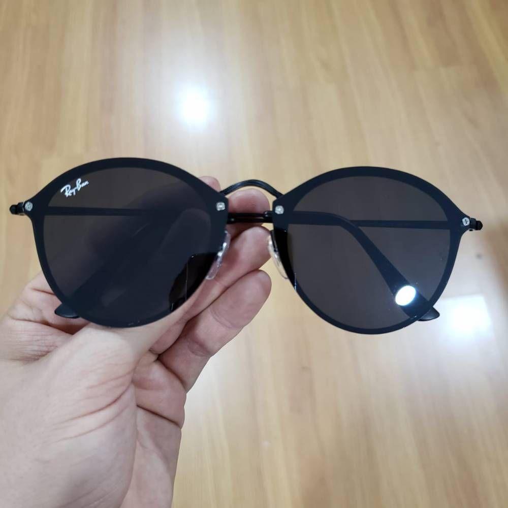Ray Ban Blaze Round Todo Preto Com Imagens Armacao De Oculos