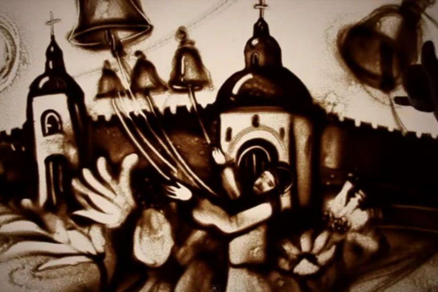 Kseniya Simonova e sua arte com areia: Feliz Páscoa | #ArteComAreia, #Jmj