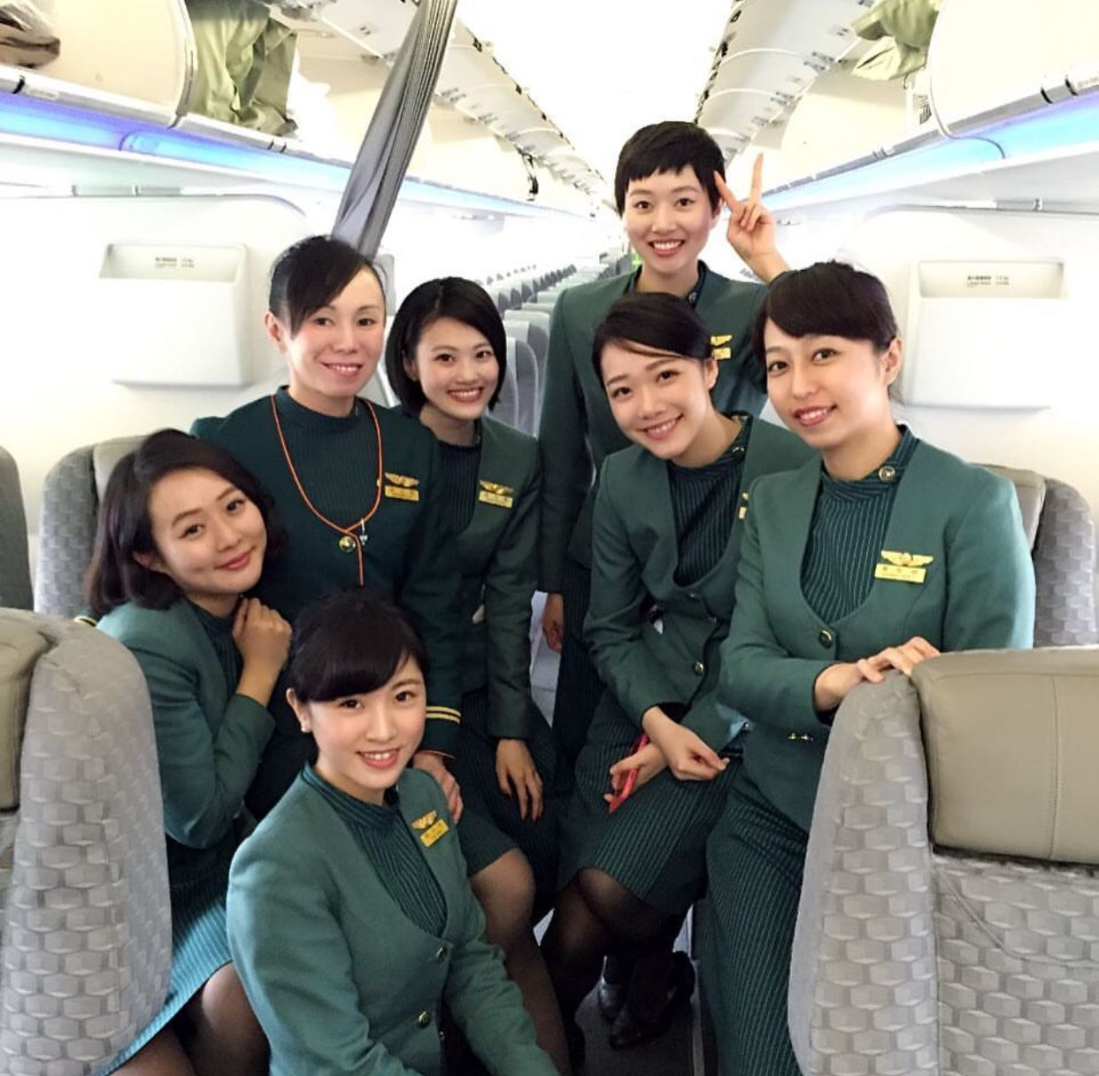 Air France Flight Attendant Cover Letter 台湾エバー航空 長榮航空 客室乗務員旧制服 Eva Air Cabin Crew Old