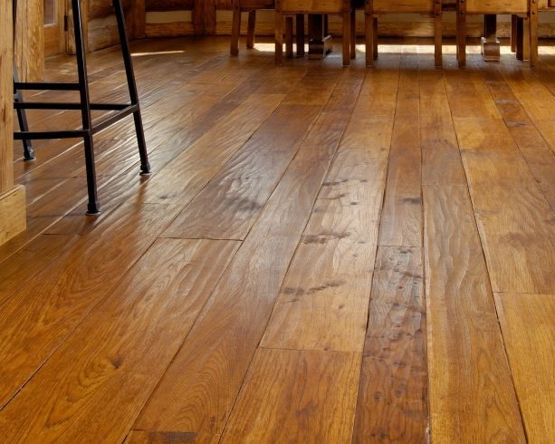 Hickory wide plank flooring throughout under foot for Hardwood floors throughout