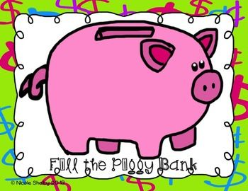 Fill The Piggy Bank Game For Any Subject Or Concept Bank Games Language Therapy Activities Speech Therapy Games