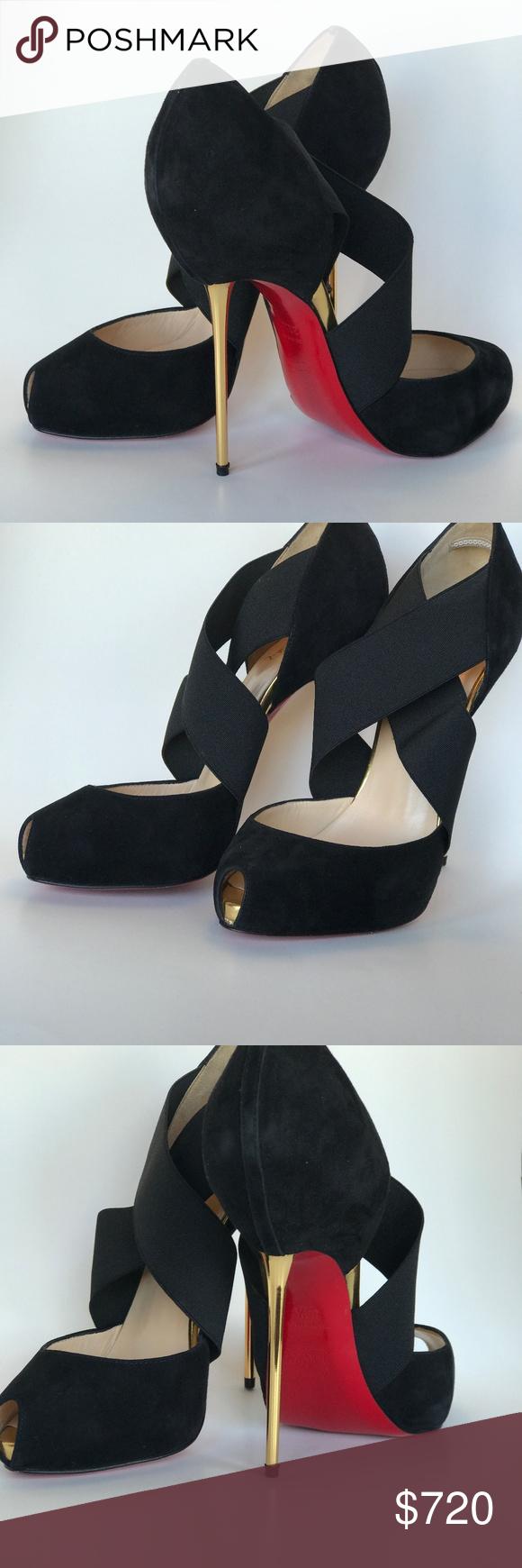 meet faa34 808f7 Christian Louboutin Shoes | Big Dorcet 120 Suede Royal ...