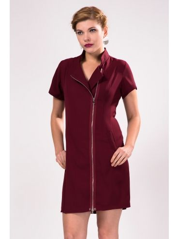 Hakim Yaka Onden Fermuarli Murdum Elbise Elbise Giyim