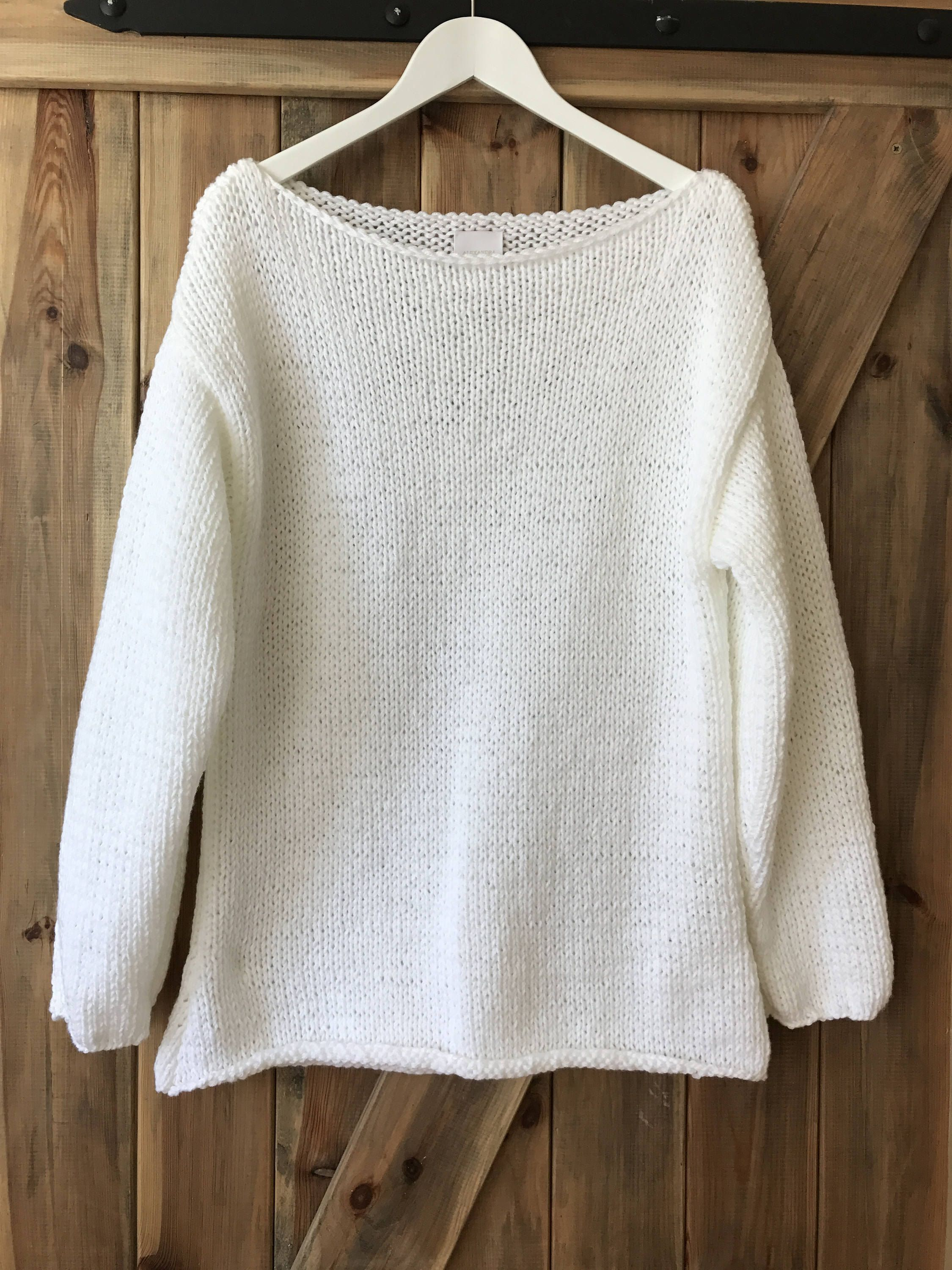 e9dac5d51 Oversized White Chunky Sweater