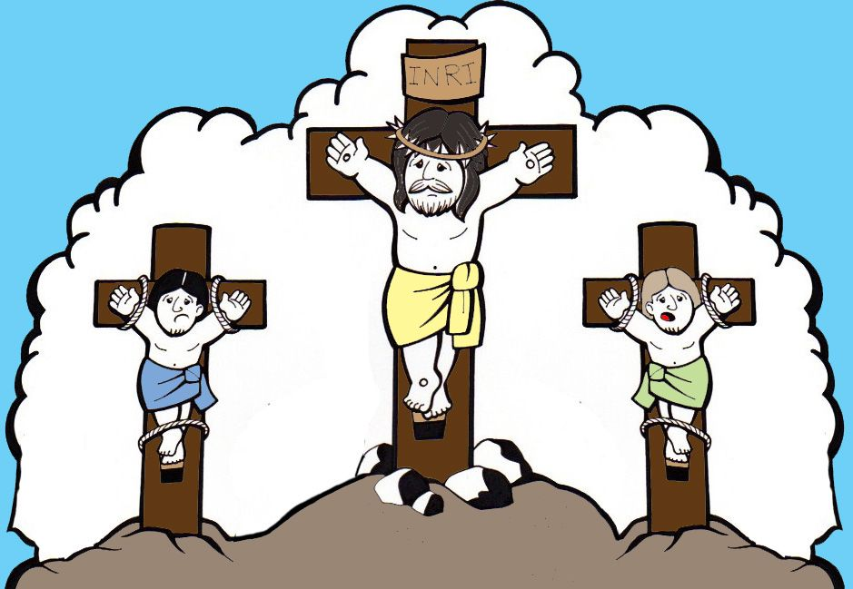 Caminho Da Crucificacao Jesus Na Cruz Colorido Jesus Na Cruz