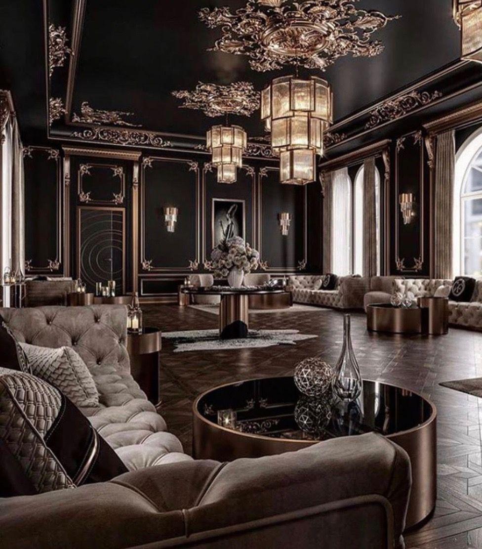 atemberaubende artdecostil schwarz und gold wohnzimmer