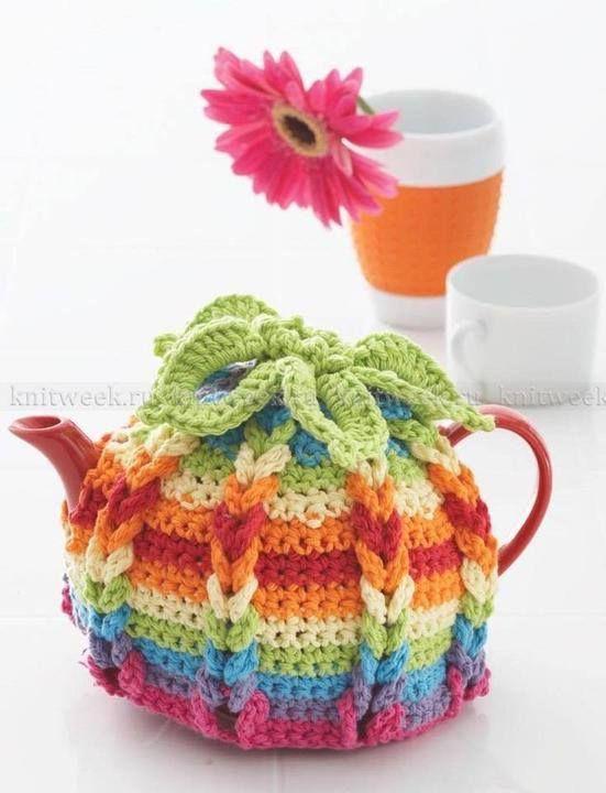 Tetera a Crochet | Decoraciones a Crochet | Pinterest | Teteras ...
