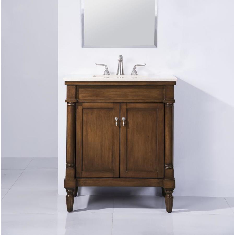 Elegant Decor First Impressions 30 In Brown Undermount Single Sink Bathroom Vanity With Beige Marble Top Lowes Com In 2021 Single Bathroom Vanity Bathroom Vanity Single Sink Bathroom Vanity [ 900 x 900 Pixel ]