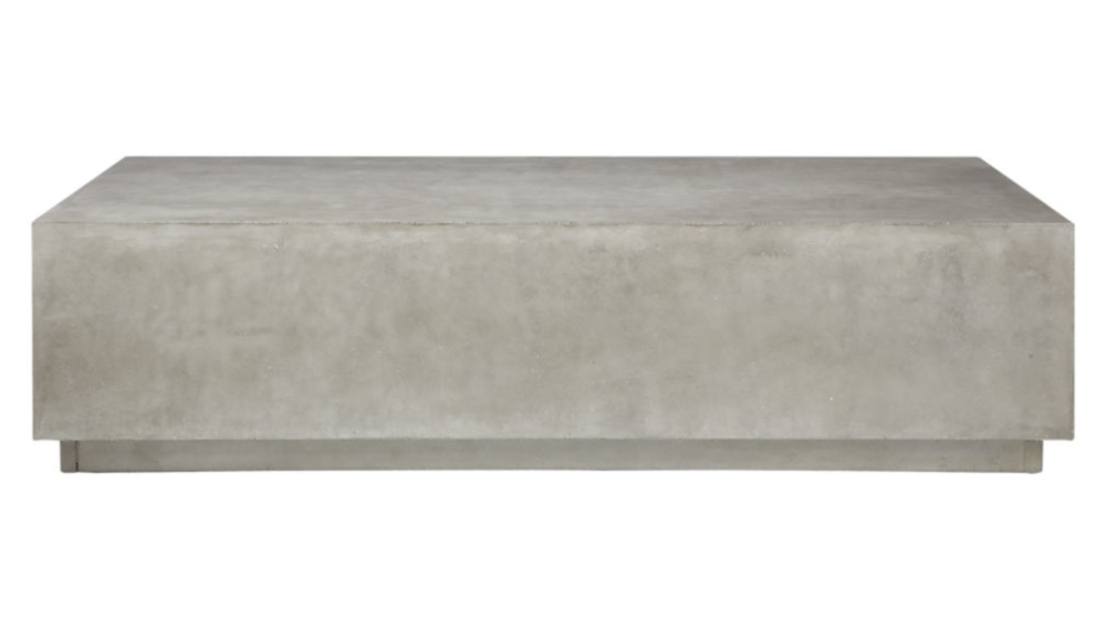 Matter Grey Cement Rectangle Coffee Table In 2020 Coffee Table Rectangle Coffee Table Square Side Table
