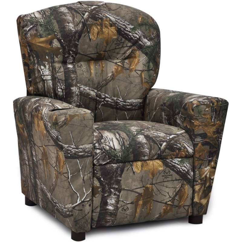 Woodsy Camouflage Kids Recliner Real Tree Toddler Recliner