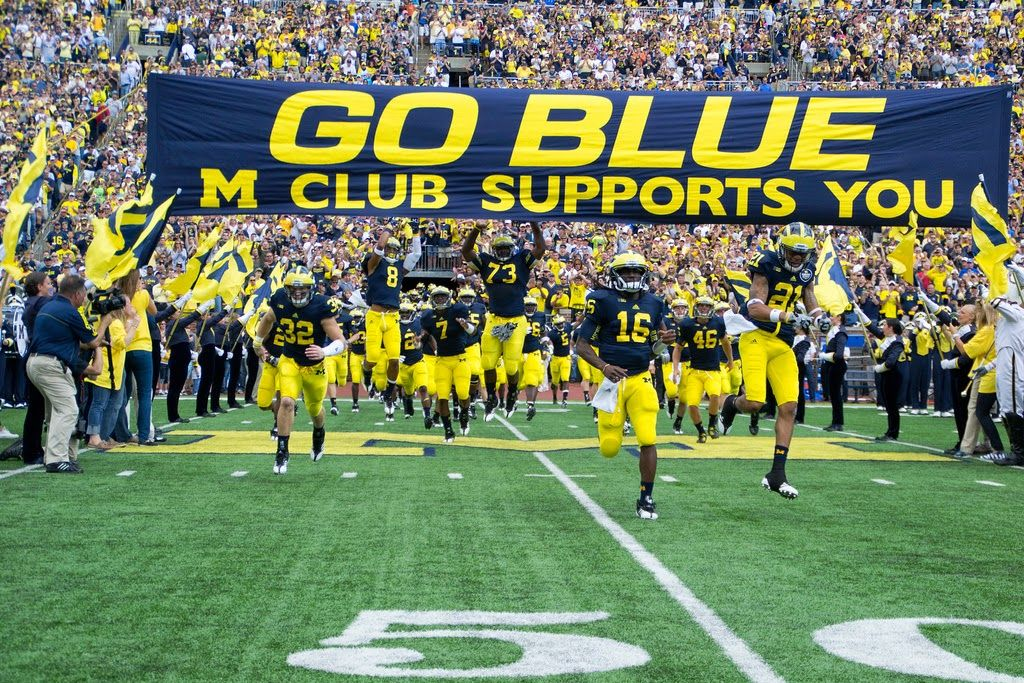 The Greatest Tradition In College Football Michigan Go Blue Go Blue Michigan