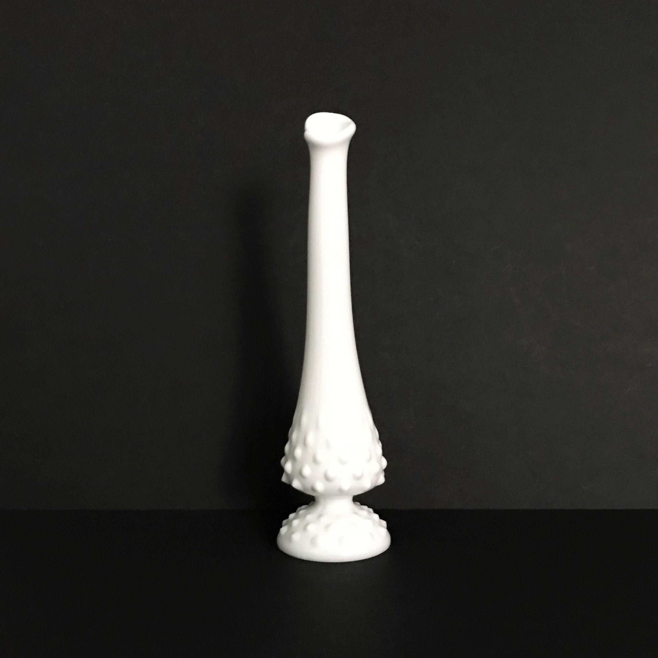 Vintage Fenton Hobnail Milk Glass Footed Candle Flower Centerpiece 1960/'s Gorgeous Wedding Centerpiece