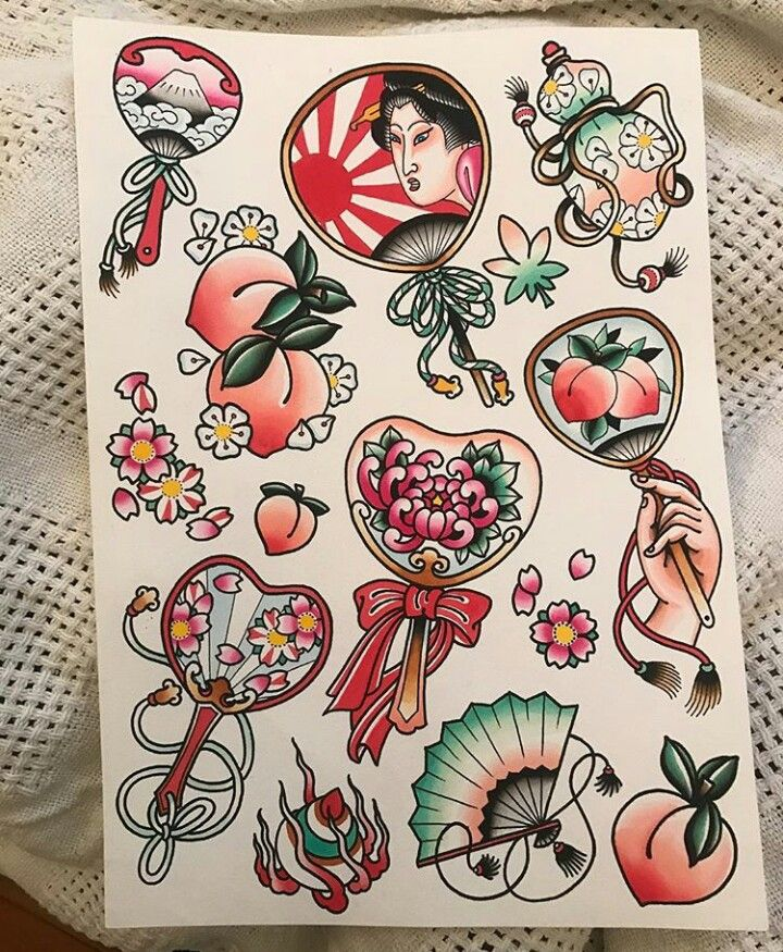 Traditional Japanese Flash Tattoo Traditional Japanese Tattoo Flash Japanese Tattoo Art Traditional Japanese Tattoos