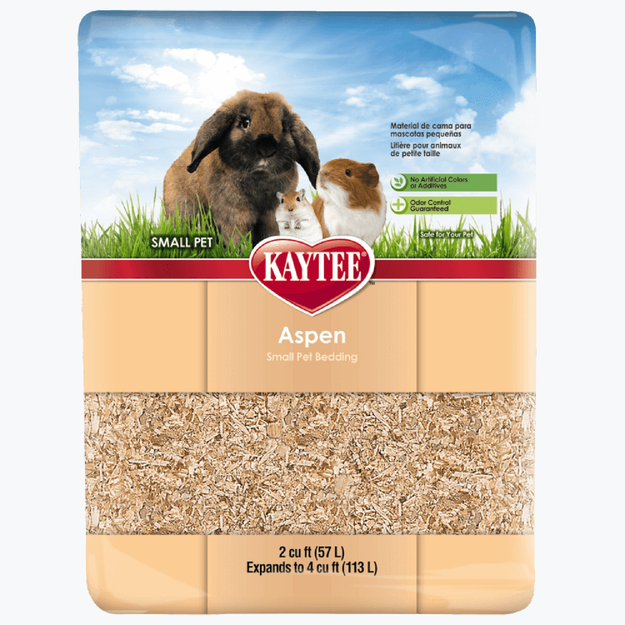 Kaytee Aspen Small Animal Bedding, 113 Liters (4 cubic ft