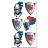 Medieval Knight Party Tattoos 1 Sheet Free Shipping Offer 50 Off