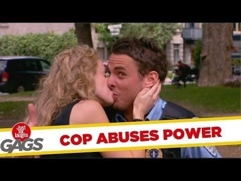 Say Goodbye To Your Ticket By Kissing The Cop Prank - #funny #cop
