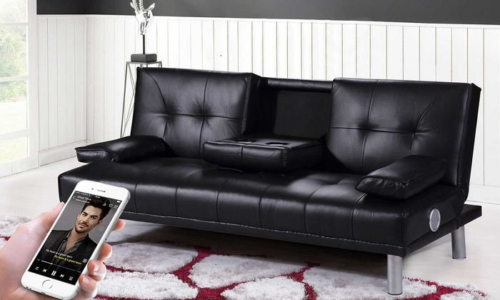 Groupon Goods Global Gmbh Manhattan Sofa Bed Or With Bluetooth Stereo Speakers