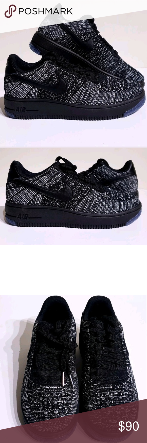 Nike Air Force 1 Low Flyknit Oreos 820256 007 New with Box