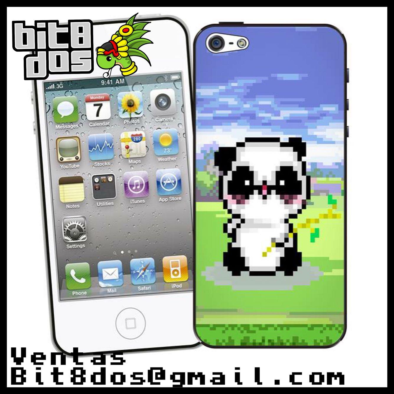 Case Panda en 8 bits #pixelart Te elaboramos cualquier diseño de videojuegos. Más información en bit8dos@gmail.com