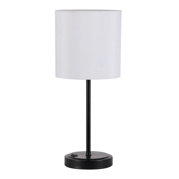 Mainstays Silver Grab And Go Stick Lamp With Usb Port Walmart Com In 2020 Lamp Table Lamp White Lamp Shade